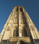 Sint-Rombouts Cathedral Clock Tower in Mechelen — Stock Photo