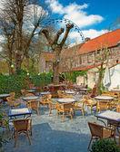 Cafe in garden — Stock Photo
