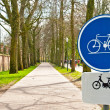 Stock Photo: Bicycle sign