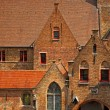 Typical medieval houses in Brugge — Stock Photo