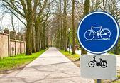 Signo de la bicicleta — Foto de Stock