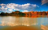 Lake Balaton with nice clouds — Stock fotografie