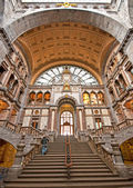 Old beautiful railway station in Antwerp — Stock Photo