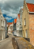 Nice houses in the old town — Stockfoto