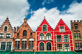Colorful buildings in Bruges — Photo