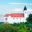Beautiful benedictine abbey in Tihany — Stock Photo