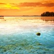 Stock Photo: Lake Balaton with very nice sunset