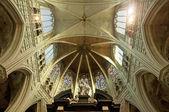 Interior da famosa catedral — Fotografia Stock