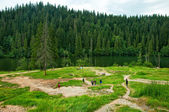 Panoramic mountain landscape scenic — Stock Photo