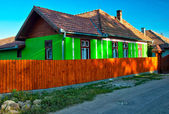 Old green house in Transylvania — Stock Photo