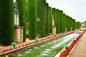 Gardens at the Alcazar de los Reyes Cristianos — Stock Photo