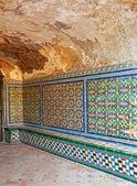 Ceramic tiles in the Royal Alcazars of Seville — Stock Photo