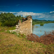 Stock Photo: Ruins of flooded Bezidu Nou