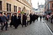 Opening ceremony of KU Leuven in Leuven — Stock Photo