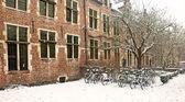 Old town of Leuven, Belgium in winter — Stock Photo