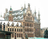 Old library of Leuven, Belgium in winter — Stock Photo