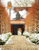 Stare Miasto leuven, Belgia w zimie — Zdjęcie stockowe