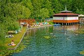 Lake completely replenished — Stock Photo