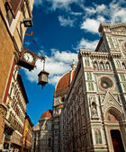Wonderful sky colors in Piazza del Duomo - Firenze. — Zdjęcie stockowe