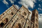 Wonderful sky colors in Piazza del Duomo - Firenze. — Stock Photo