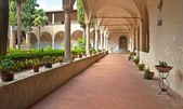 Cloister of the famous cathedral — Stock Photo