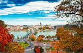 Budapest in autumn — Stock Photo