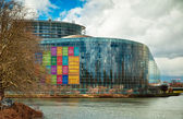 Exterior of the European Parliament of Strasbourg, France — Stock fotografie