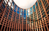 Exterior of the European Parliament of Strasbourg, France — Stockfoto