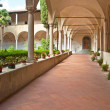 Stock Photo: Cloister with flowers