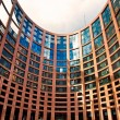 Stock Photo: Exterior of EuropeParliament of Strasbourg, France