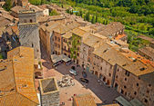 Medieval Tuscany town — Stock Photo