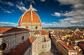 Wonderful sky colors in Piazza del Duomo - Firenze. — Foto de Stock