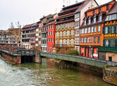 Nice canal with houses in Strasbourg, France. — Stock Photo