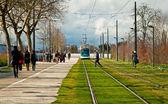 鉄道のレール — ストック写真