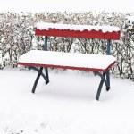 Snowy bench — Stock Photo #43484615