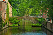 Houses along the canals — Stock Photo