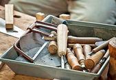 Hulpmiddelen voor snijwerk — Stockfoto