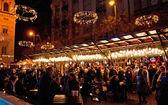 Vánoční jarmark v budapešti. — Stock fotografie