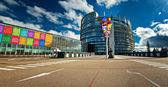 Exterior of the European Parliament in Strasbourg — Foto de Stock