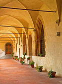 Cloister of a nice medieval church — Foto de Stock