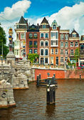 Canals of Amsterdam — Fotografia Stock