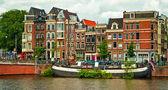 Kanály Amsterdamu — Stock fotografie