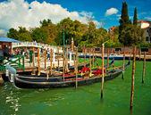 威尼斯贡多拉小船 — 图库照片
