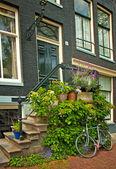 漂亮的房子和街道在阿姆斯特丹. — 图库照片