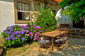Nice house in the village — Stock Photo