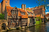 Houses along the canals — Stockfoto