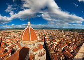 Wonderful sky colors in Piazza del Duomo — Stock Photo
