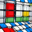 Stock Photo: Cubes background
