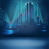 Digital city bakgrunden — Stockfoto