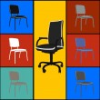 Pop art chairs - Stock Photo